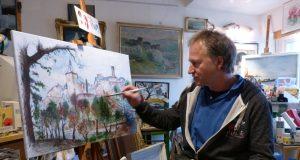 Stephan Schick in seinem Atelier