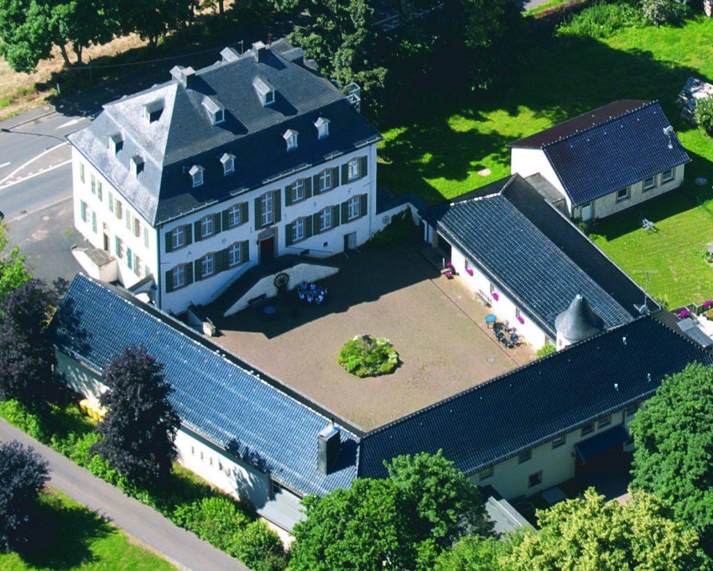 Das Jugendgästehaus Haus Dalbenden aus der Vogelperspektive