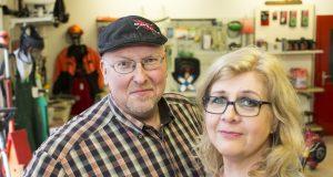 Inhaber Peter Scory und Mitarbeiterin Maria Schneider