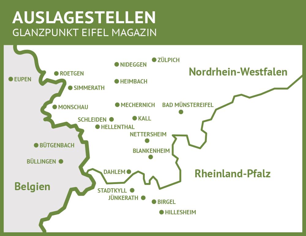 Karte Eifel.Karte Eifel Glanzpunkt Eifel