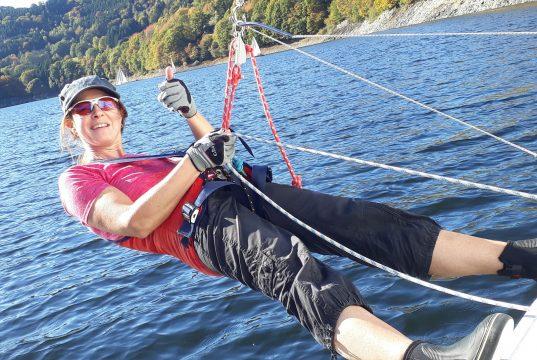 Ilka Vogel im Einsatz für den Segelclub Bonn e.V.