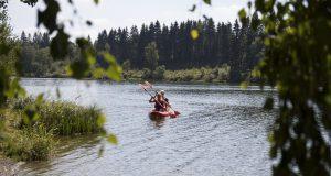 Kajaktour auf dem Bütgenbacher See