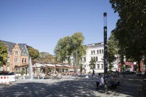 Stolberg, Marktplatz mit Kupferpavillon