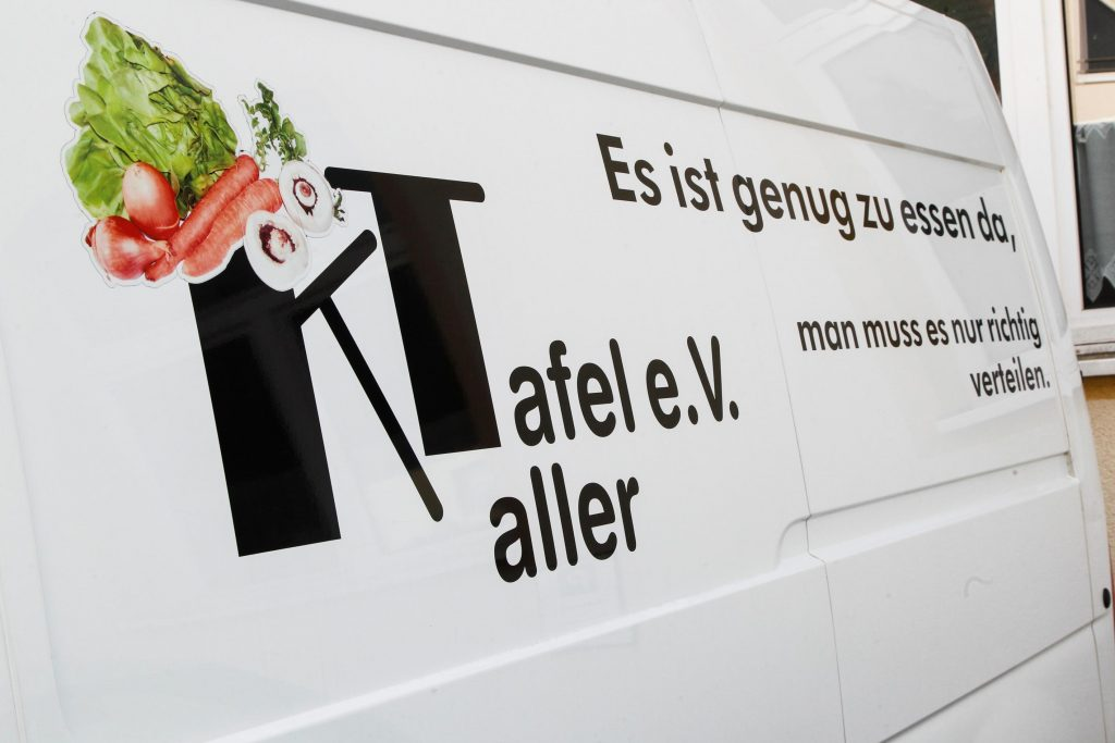 Das Versorgungsfahrzeug der Kaller Tafel e.V.