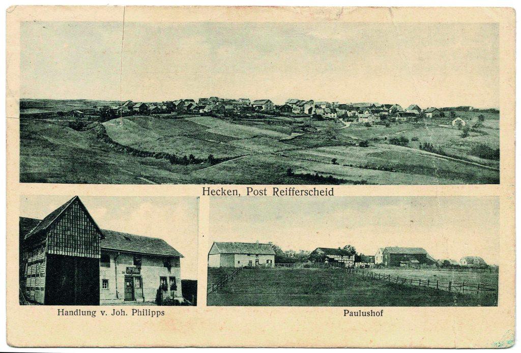 Hecken und Paulushof in früheren Zeiten